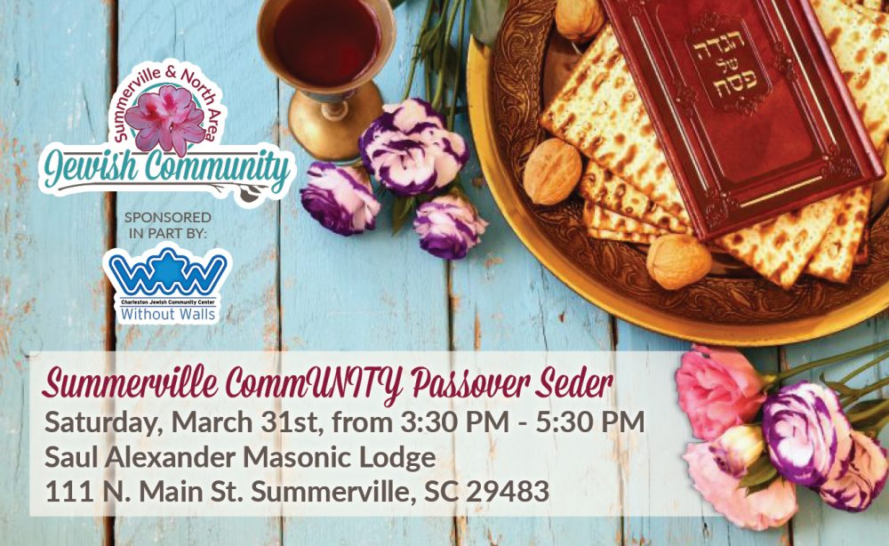 Summerville CommUNITY Passover Seder @ Saul Alexander masonic lodge | Summerville | South Carolina | United States